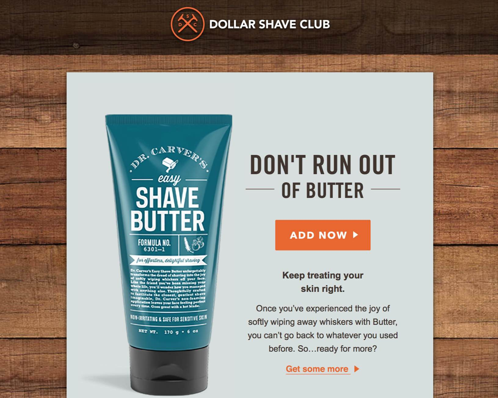 UX Dollar Shave Club Email Example
