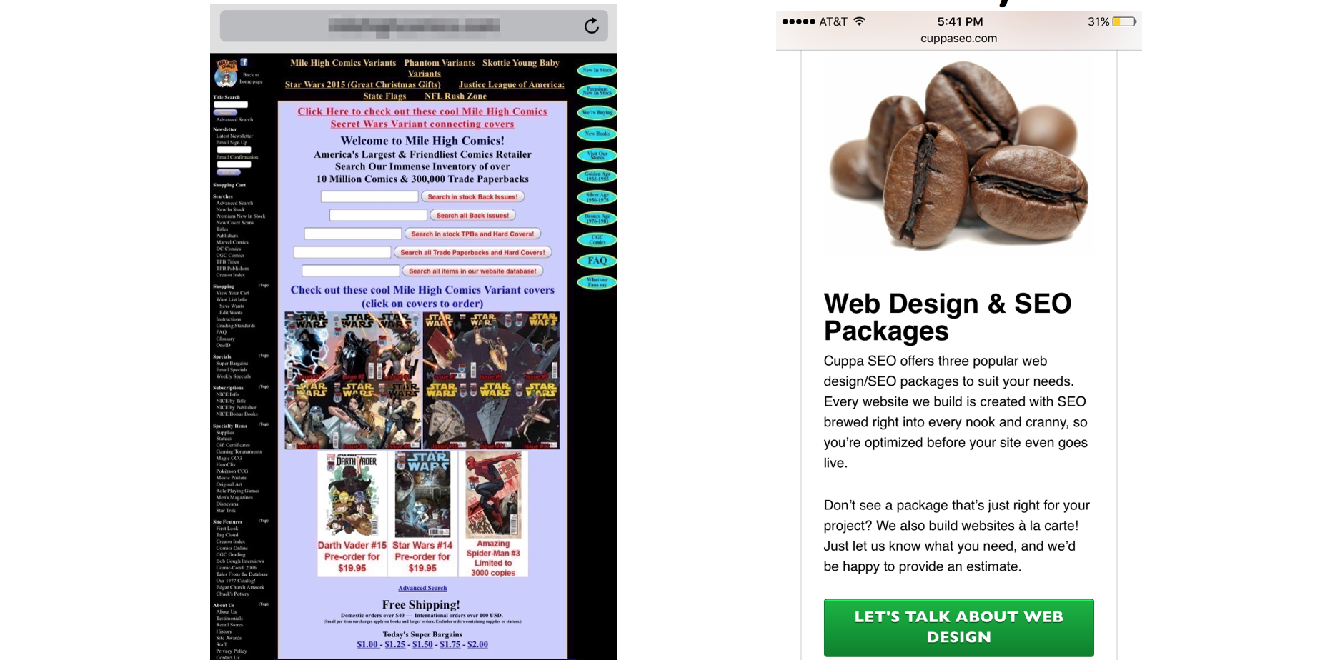 Mobile Friendly Web Design Example