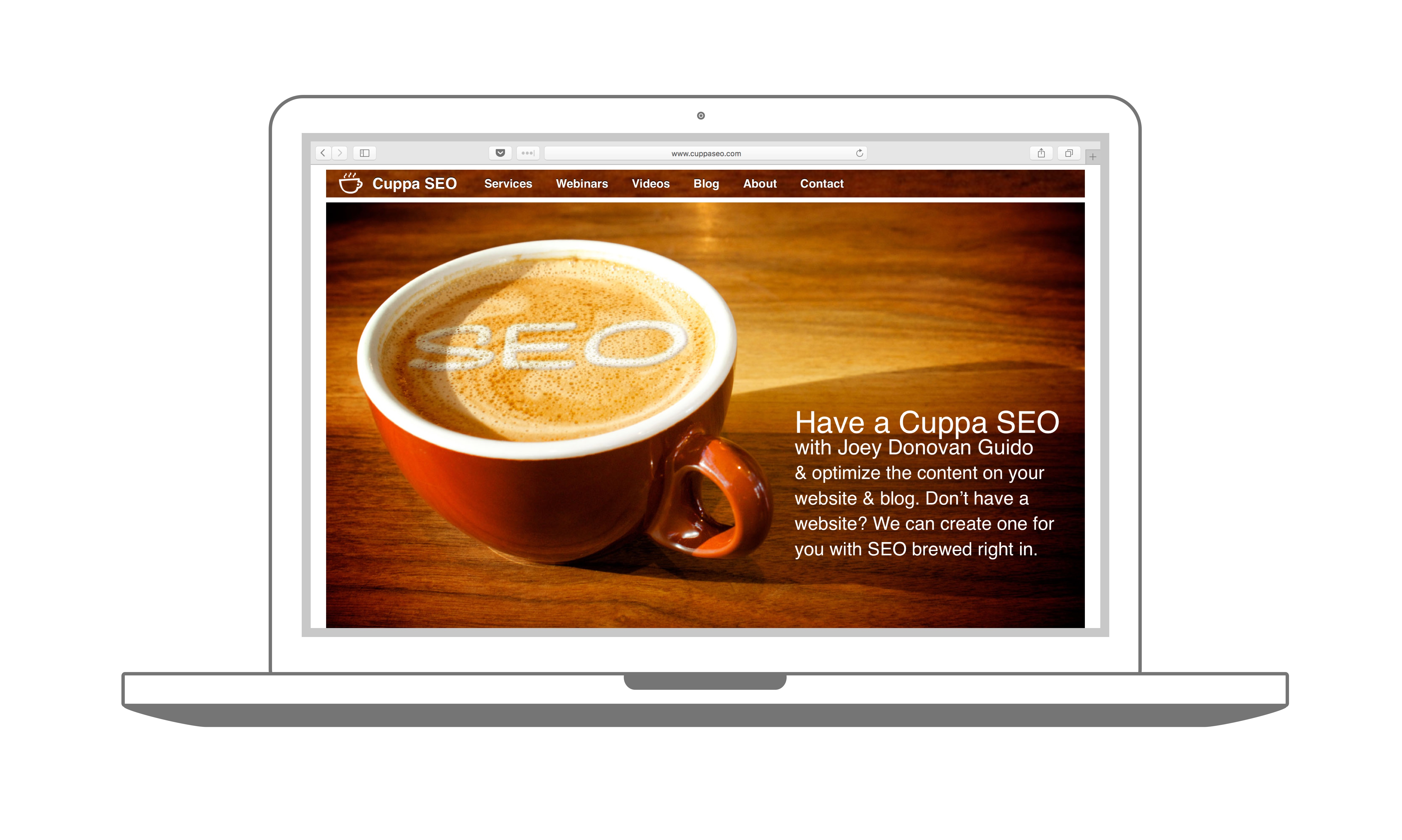 Cuppa SEO Website Design Madison WI Homepage