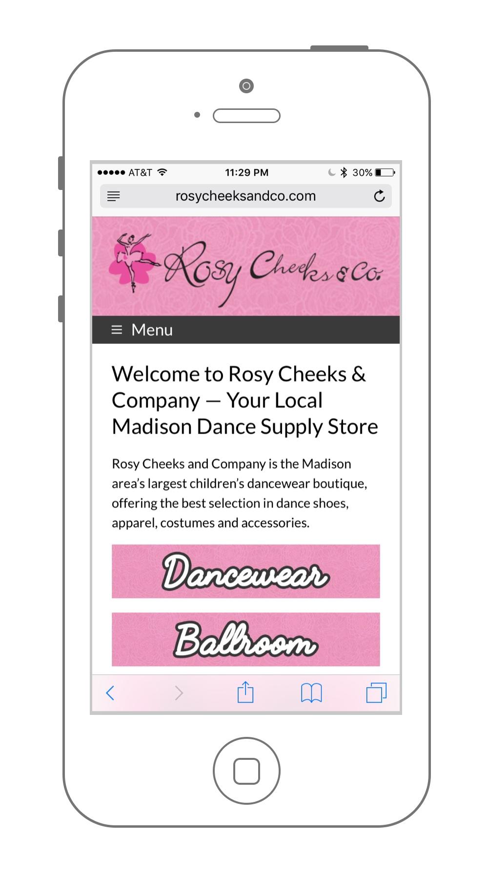 Rosy Cheeks Web Design UX Madison WI