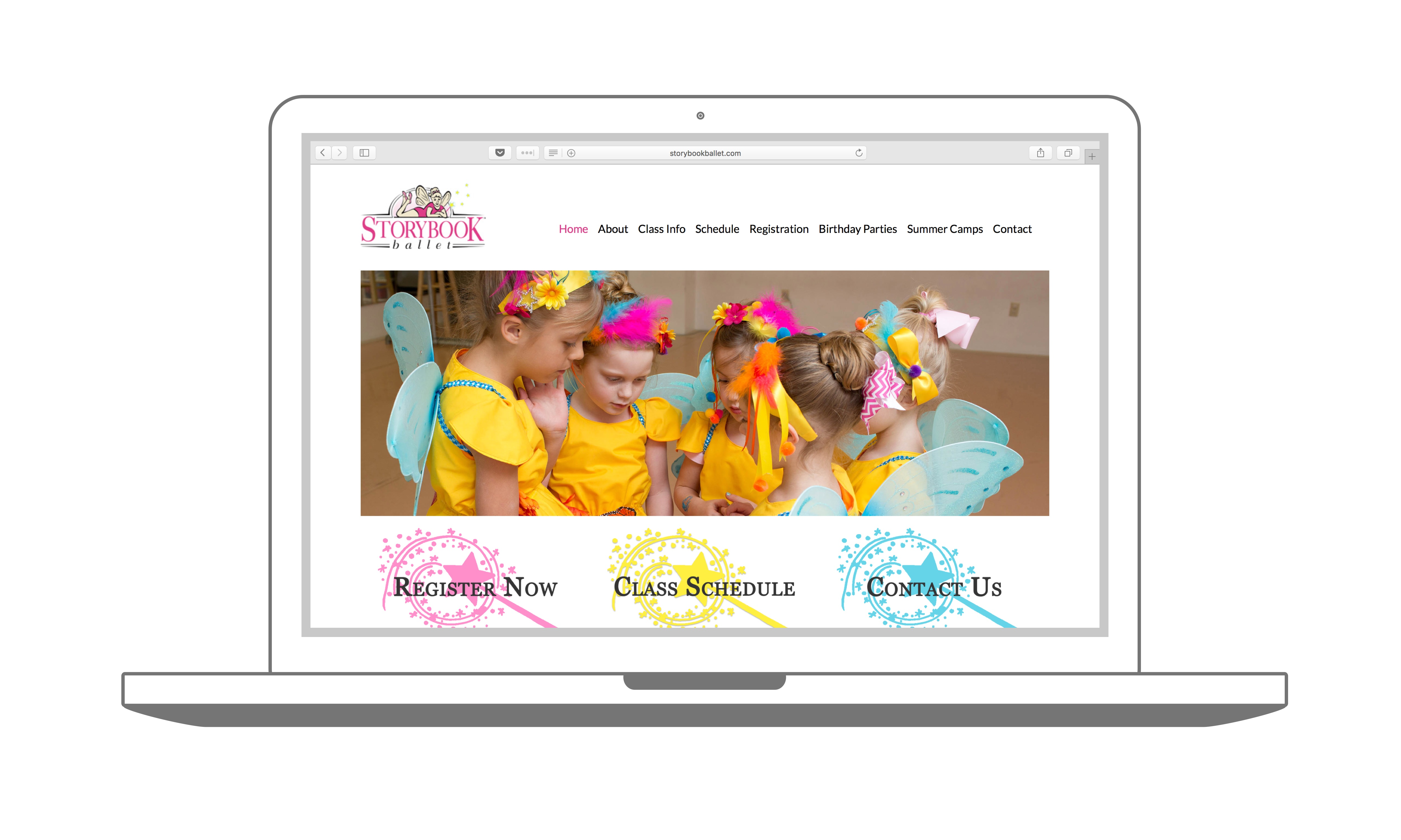 Storybook Ballet Web Design Homepage Sample