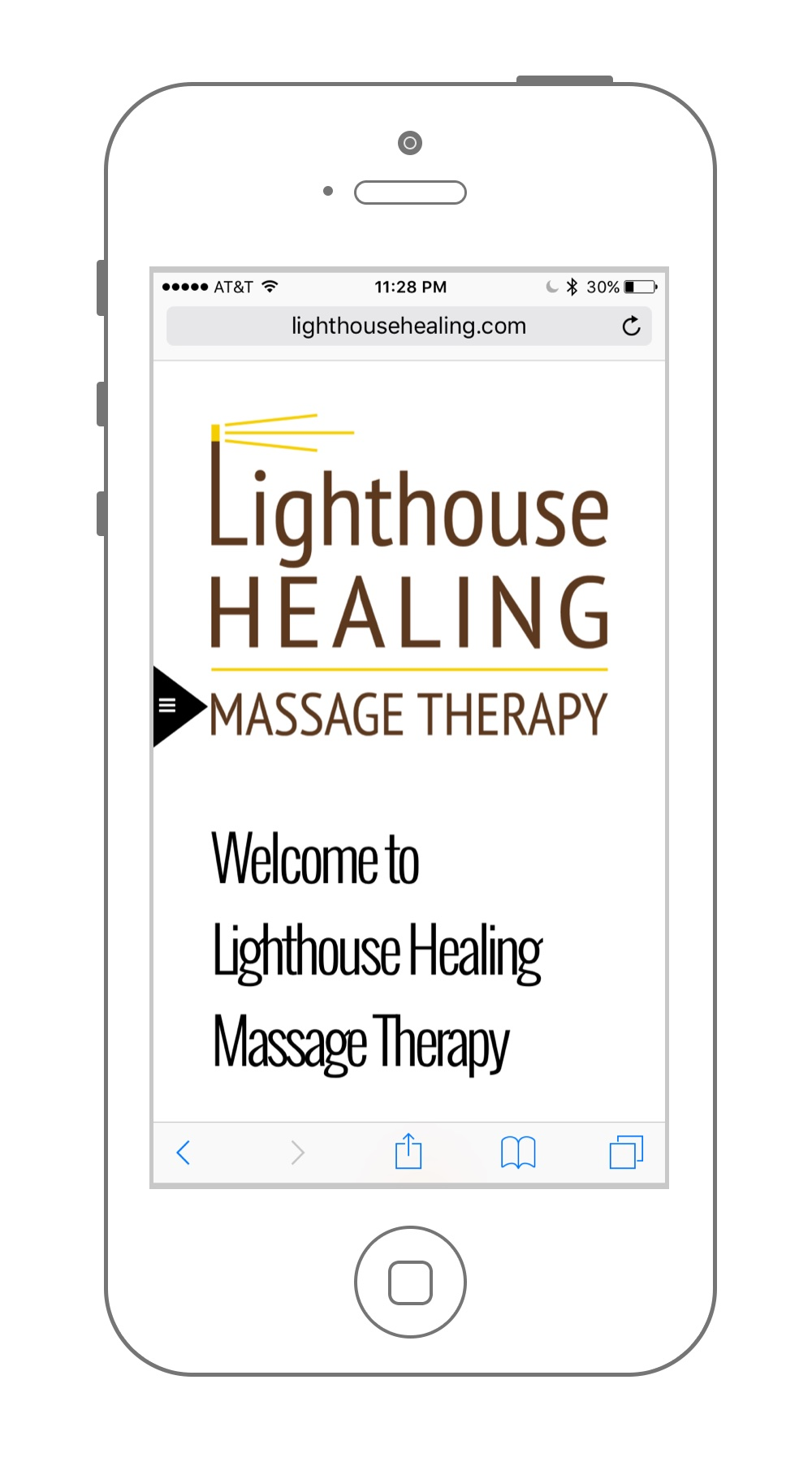 Website Design Lighthouse Healing Massage Therapy