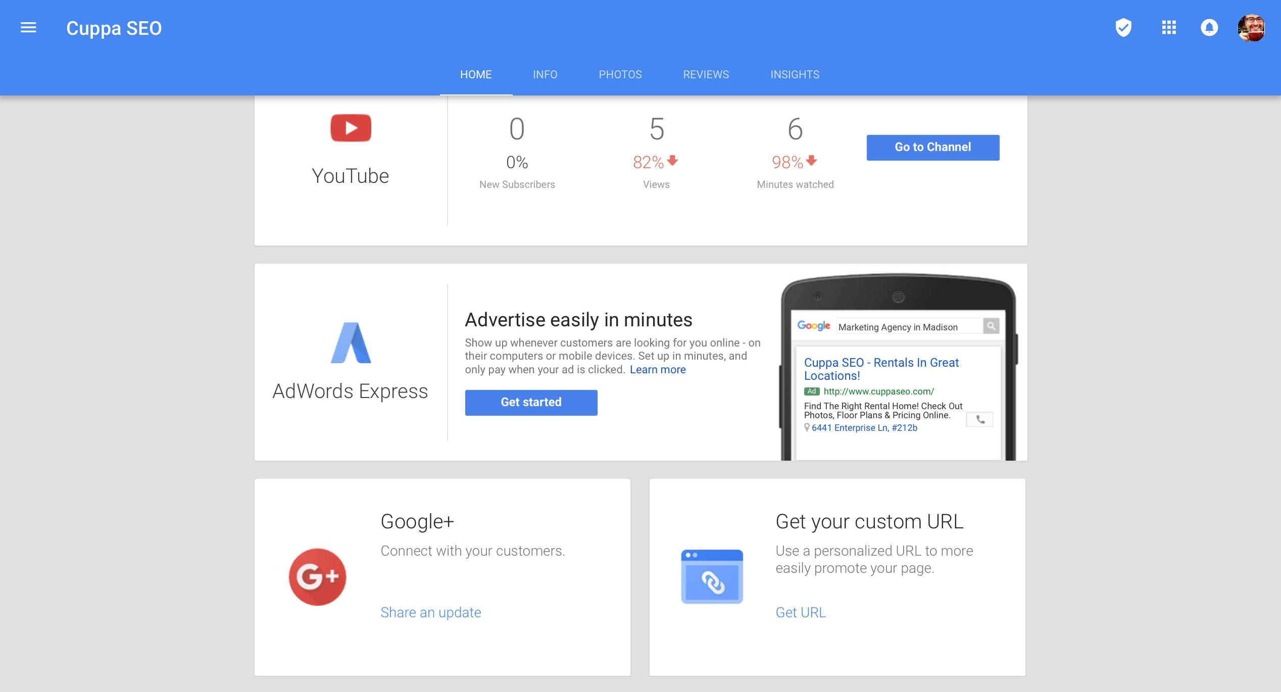 Google My Business & Google Plus Listing