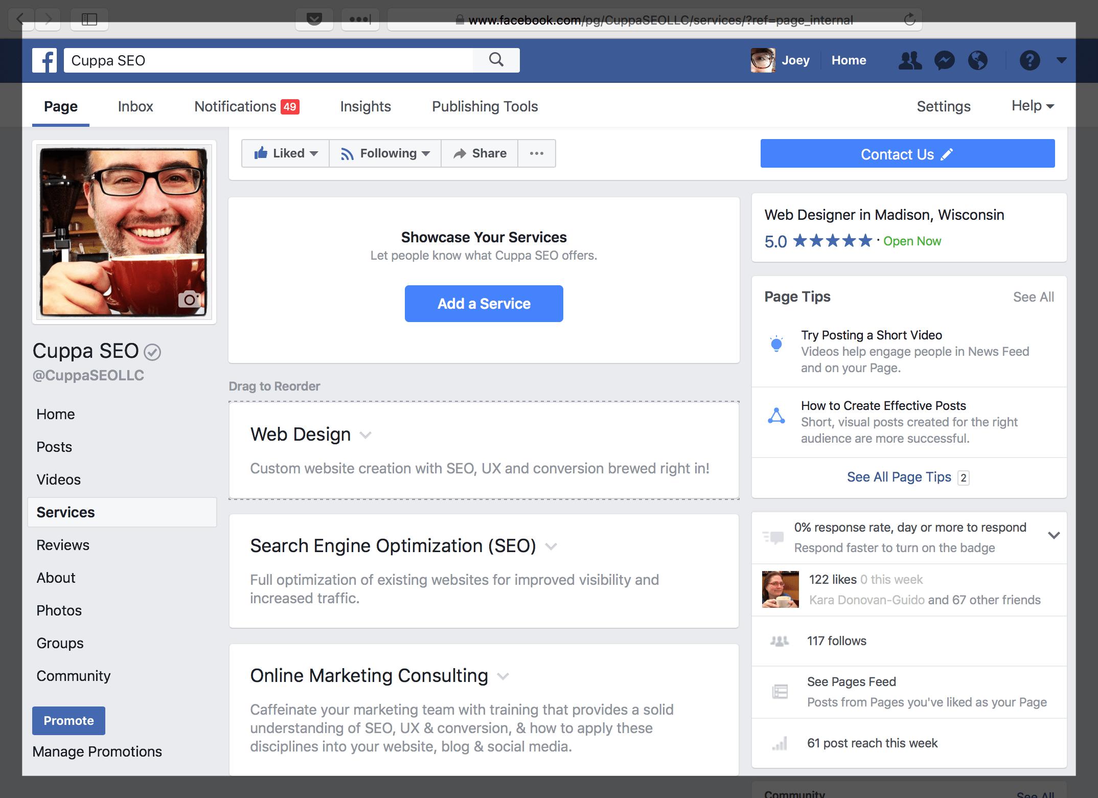 Optimize Facebook Business Page Services