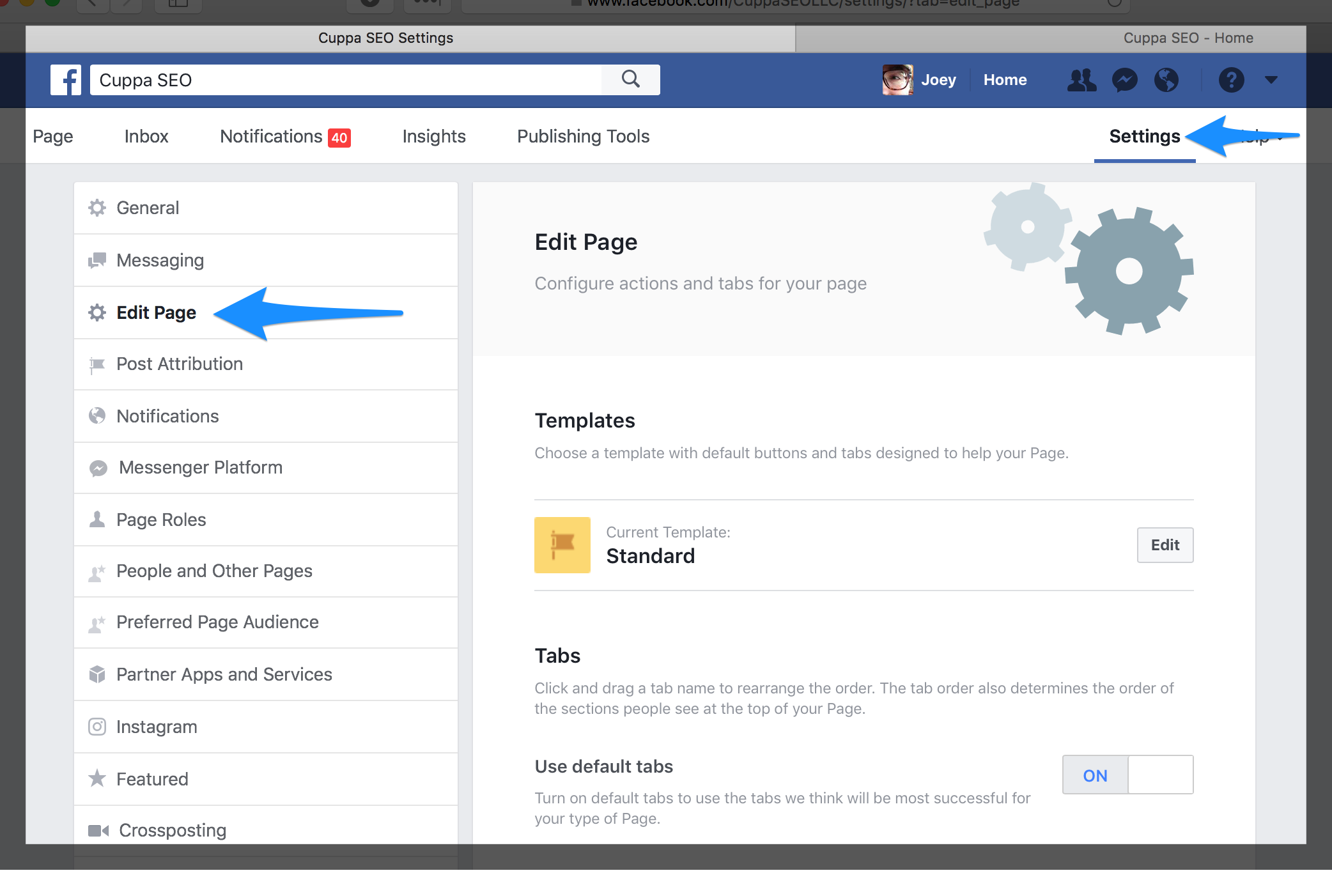 Create Facebook Business Page with Good UX
