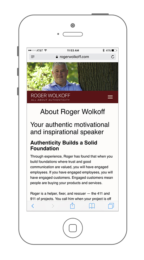 UX SEO & Web Design Services for Roger Wolkoff