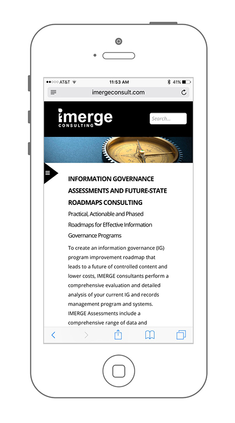 UX & Mobile Friendly Website Design for iMerge