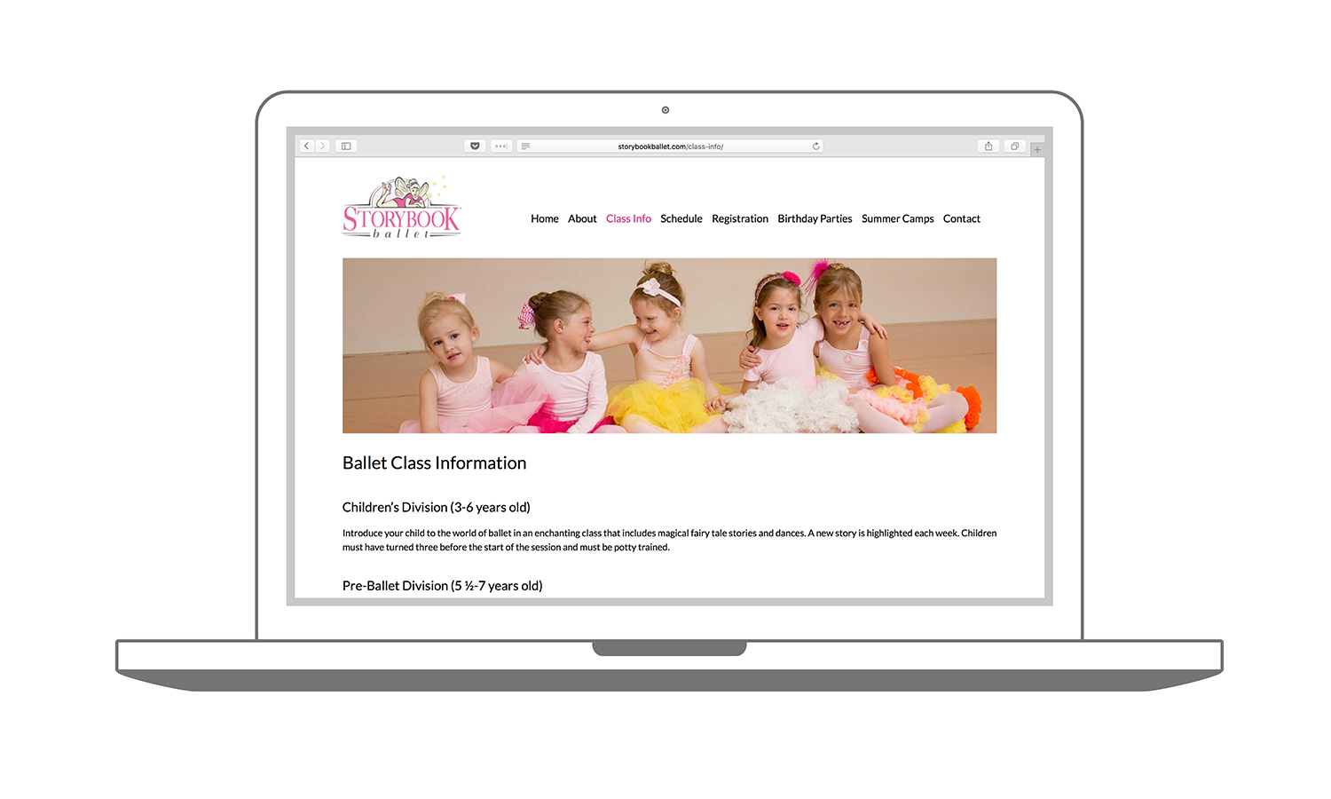 Website Design Madison WI Storybook Ballet