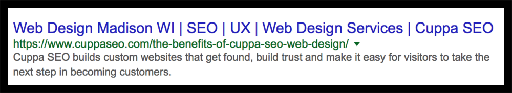 SEO Tip 7 from Cuppa SEO Web Design Madison WI