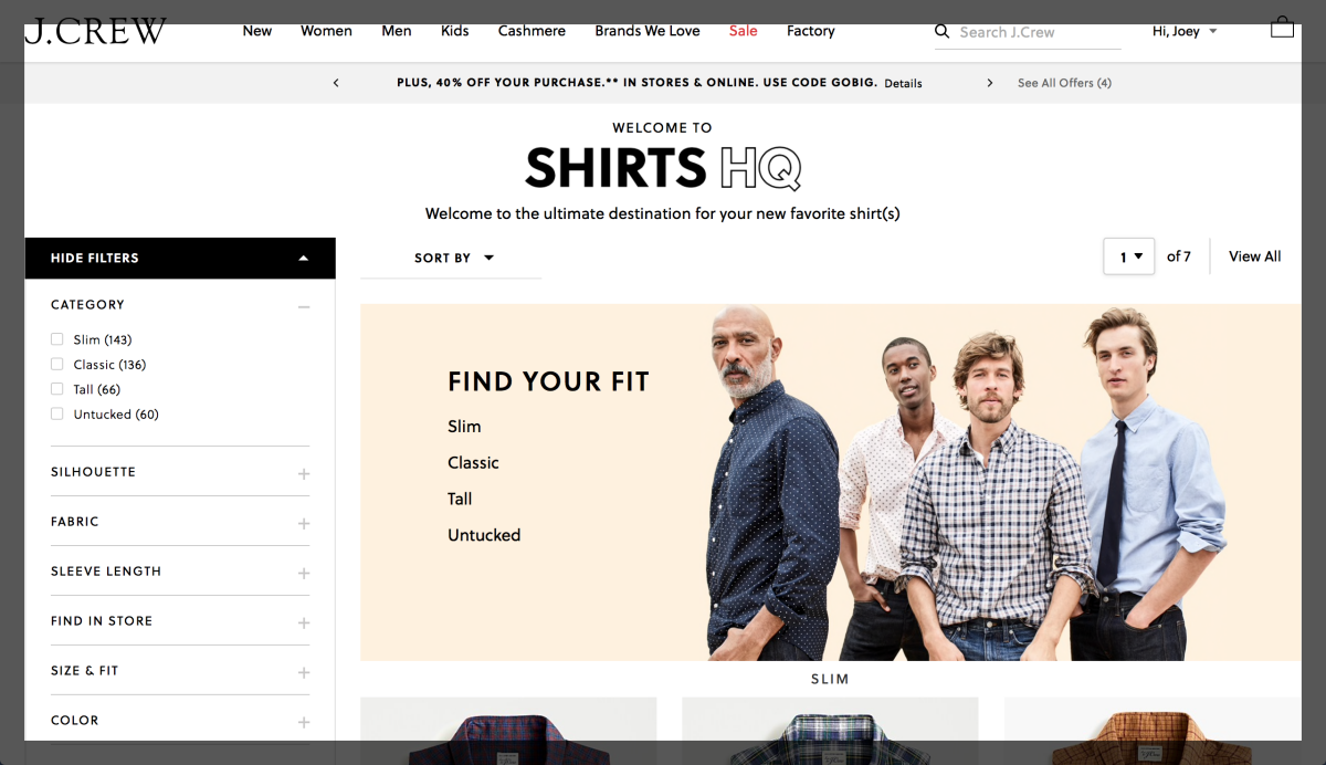 J Crew UX Example 2 Cuppa SEO Madison