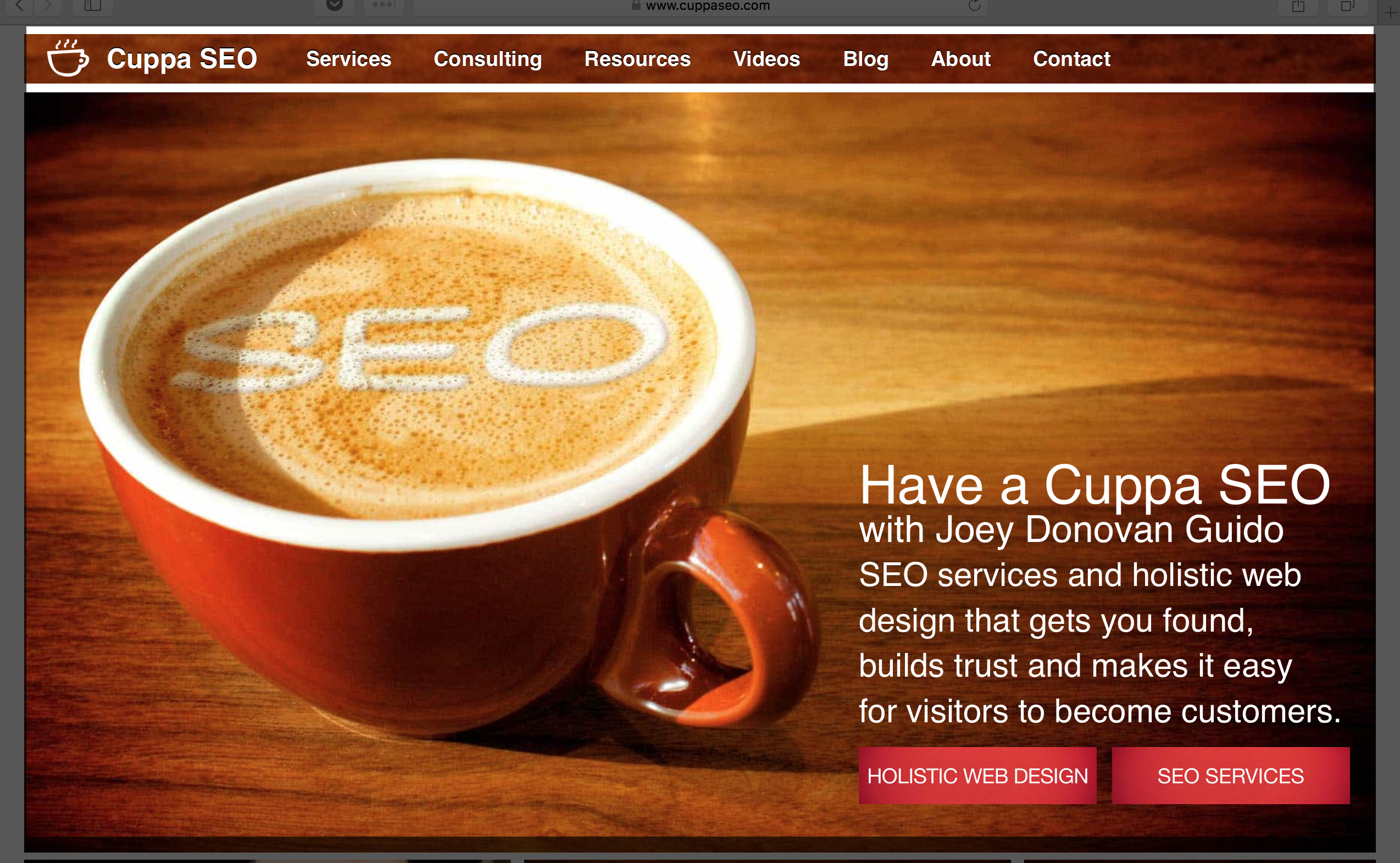 Cuppa SEO Web Design Function Over Form
